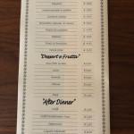 Menù Contorni e Dessert